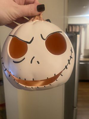 Nightmare before Christmas light up pumpkin Halloween decor collectible brand new for Sale in Edison, NJ