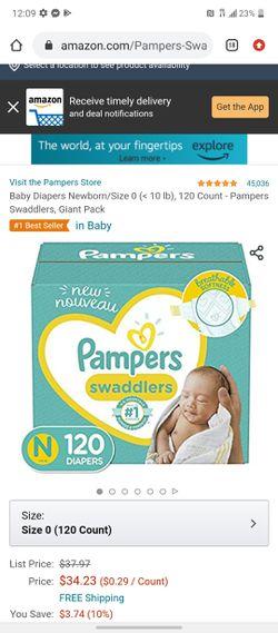 Newborn diapers for Sale in Salinas,  CA