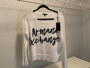 NWT: Armani Exchange White Sweater (Small) for Sale in Renton, WA