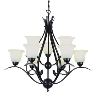 Aspen 9-Light Rubbed Oil Bronze Chandelier with Frosted Shades by Bel Air Lighting NEW for Sale in Plantation, FL