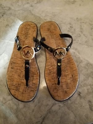 Michael Kors Black and Gold Sandals for Sale in Phoenix, AZ