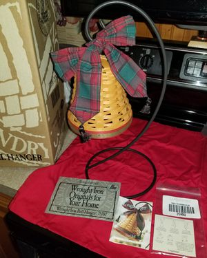Longaberger- Christmas Noel Bell Basket with Wrought Iron Hanger for Sale in Louisville, KY