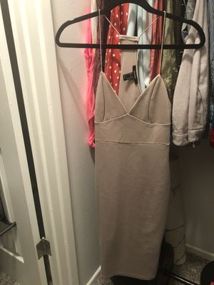 Nude tight stretchy dress size medium for Sale in Los Angeles, CA