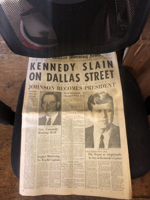 Rare jfk news paper as is for Sale in Tucson, AZ