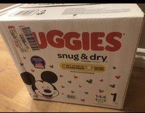 Huggies size 1 & newborn diapers for Sale in North Las Vegas, NV