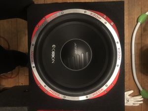 15 inch HCCA Orion Sub with Ported Box New for Sale in Seekonk, MA