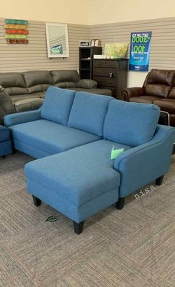 💦. BRAND NEW. 💦Jarreau Blue Sofa Chaise Sleeper for Sale in Beltsville,  MD
