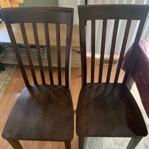 Wood Dining Chairs (4) for Sale in Bristow, VA