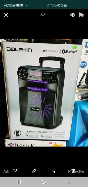 """New 12"""" subwoofer 2,500 watts Bluetooth, rechargeable, usb, sd, tf ,fm for Sale in Riverside, CA"""
