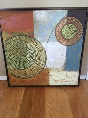 Contemporary abstract canvas framed art for Sale in San Diego, CA