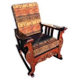 Antique Tiger Oak Carved Serpents Morris Reclining Chair- delivery available for Sale for sale  Jupiter, FL