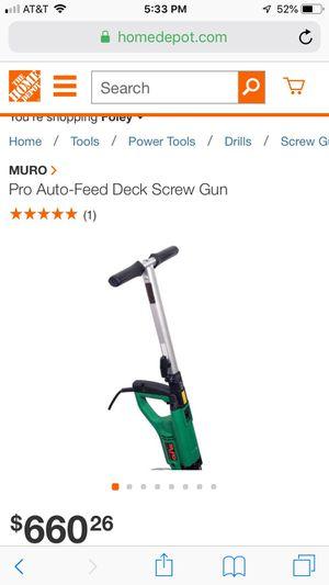 Muro auto feed deck screw gun for Sale in Foley, AL