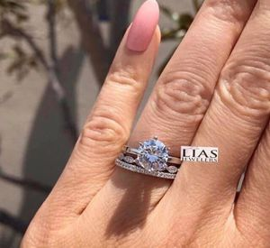 New 18 k white gold wedding ring set engagement ring for Sale in Fort Lauderdale, FL