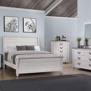 (New In Boxes) Queen Size White Sleigh Bedroom Set for Sale in Atlanta, GA