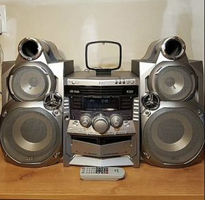 JVC Stereo Boom box system w detachable speakers ( can be hooked to TV for sound) for Sale in Brooklyn, NY