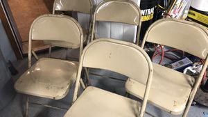 5 Metal Folding Chairs $25 for all 5 You Must Pickup for Sale in New Ringgold, PA