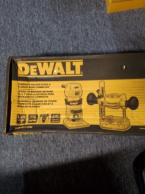 DEWALT DWP611PK 1.25 HP Max Torque Variable Speed Compact Router Combo Kit with LED's for Sale in Burlington Township, NJ