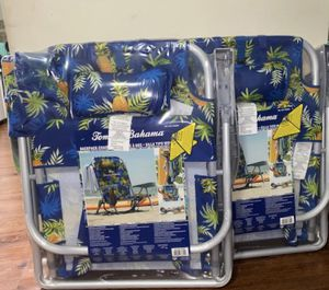 2- pack Tommy Bahama 2020 Backpack Pineapple Cooler Chair with Storage Pouch and Towel Bar for Sale in Silver Spring, MD
