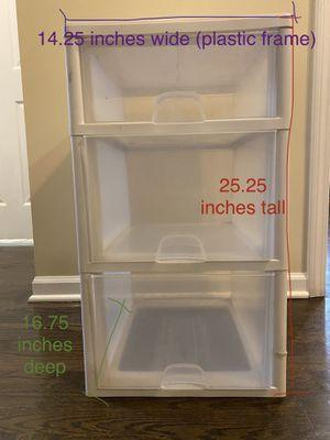 3 Drawer Plastic Organizer for Sale in Chicago, IL