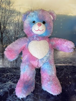 """Build a bear Magical Colors Bear with hearts print 18"""" plush toy . for Sale in Long Beach, CA"""