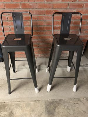 4 Metal Industrial Bar Stools for Sale in Walnut Creek, CA