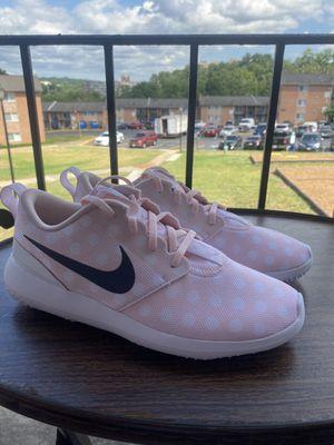 Nike Roshe G Golf Shoes Pink/Polka Dot Womens Size 7 for Sale in Alexandria, VA