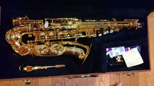 Saxophone, barely used, as is, plus case and accessories for Sale in Newton, MA