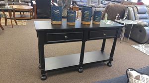 SOFA TABLE IN BLACK FINISH for Sale in Portland, OR