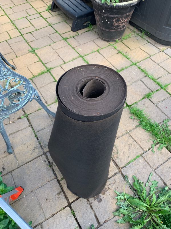 Almost new roll of black roofing paper, never used
