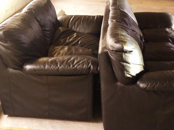 3 Piece Comfy Leather Couches