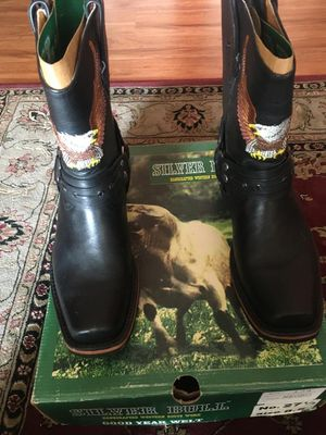 Brand new Harley Davison style leather biker boots for Sale in Inglewood, CA