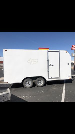 16ft car hauler trailer- low ballers will be ignored for Sale in Fontana, CA