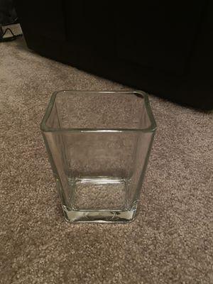 Glass rectangle vase, set of 2 for Sale in Draper, UT