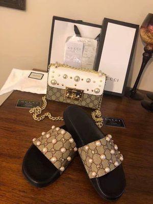 Gucci slides & purse set for Sale in FL, US