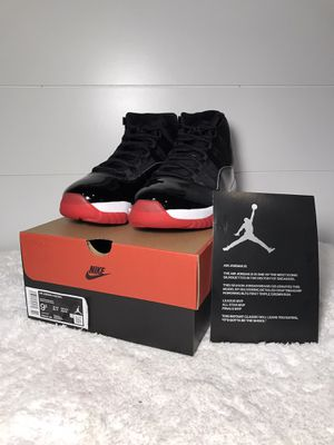 100% AUTHENTIC 2019 size 9.5 Air Jordan Bred 11 for Sale in Belleville, MI