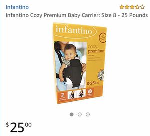 Infantino Cozy Premium Baby Carrier: Size 8 - 25 Pounds for Sale in Las Vegas, NV