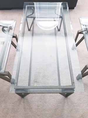 Glass Coffee Table & 2 End Tables for Sale in Aldie, VA