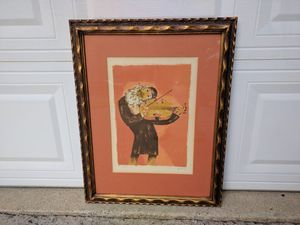 """Artist: Samy Briss. Hand Signed & Numbered Limited Edition Serigraph 21""""x27"""" for Sale in Duluth, GA"""