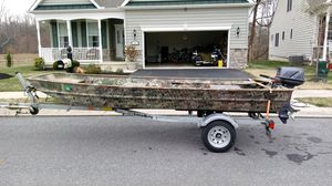 15 ft Alumacraft 2015 load rite trailer. for Sale in Smyrna, DE
