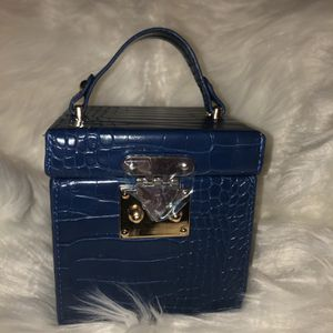 Navy Blue Boxed Croc Handbag for Sale in Newport News, VA