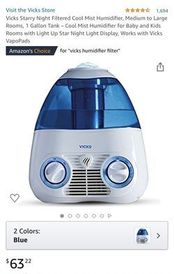 Vick's cool moisture humidifier barely used for Sale in Irving,  TX