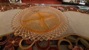 Vintage 4 part pink depression glass relish tray Miss America pattern. for Sale in Kingsley, PA