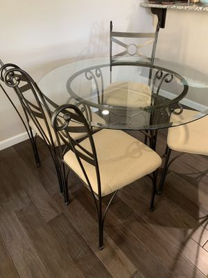 """Glass Round 45"""" dining set for Sale in San Jose, CA"""