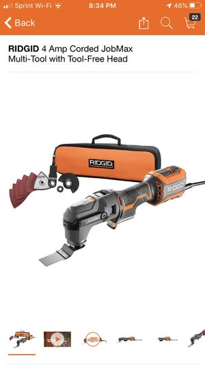 RIDGID 4 Amp Corded JobMax Multi-Tool with Tool-Free Head for Sale in Pomona, CA