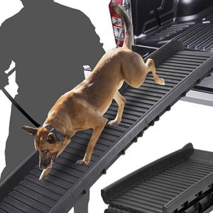 Bi-Fold Pet Ramp for Dog and Cat Ramp Great for Trunk Back Seat Ladder Step Car SUV for Sale in South Gate, CA