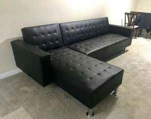 Black or white leather sectional/sofa bed for Sale in Marietta, GA