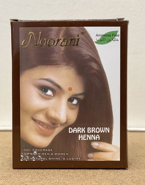 NOORANI HENNA DARK BROWN 6 POUCHES X 10g NATURAL HAIR COLOR for Sale in San Gabriel, CA
