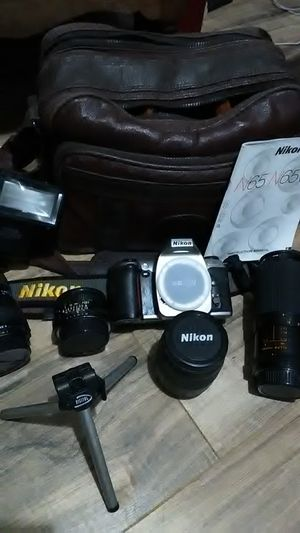 Nikon n65(all lenses can be used on digital cameras also) for Sale in Fuquay Varina, NC