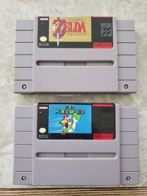 Super Nintendo SNES Zelda and Super Mario World for Sale in Fresno, CA