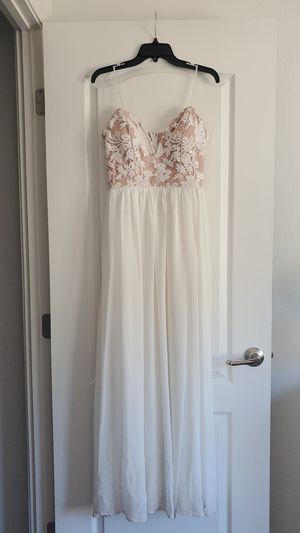 Long White Prom Dress for Sale in Pauma Valley, CA